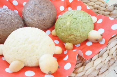 自家製天然酵母亀さんメロンパン・おやき・野菜パン